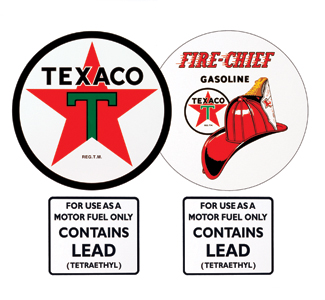 Gas Pump Decal Kit-Texaco