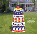 Patriotic Birthday Cake Pattern