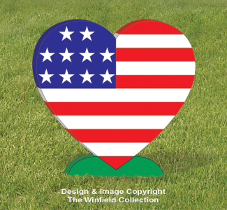 Large Patriotic Heart Pattern
