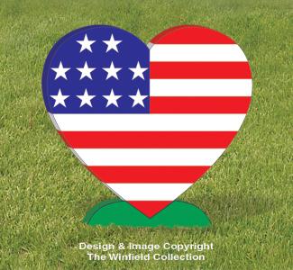 Medium Patriotic Heart Pattern