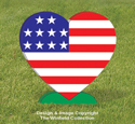 Medium Patriotic Heart Pattern