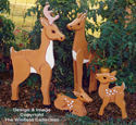 Whitetail Deer Family Wood Pattern