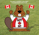 Canada Beaver Flag Holder Pattern