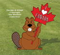 Canada Beaver Sign Holder Pattern