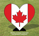 Canada Heart Woodcraft Pattern