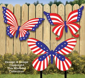 Large Patriotic Butterflies Woodcraft Pattern