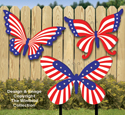 Large Patriotic Butterflies Woodcraft Pattern
