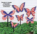 Medium & Small Patriotic Bufferflies Pattern