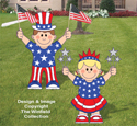 Patriotic Kids Woodcraft Pattern