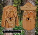 Cedar Pirate & Sea Hag Birdhouse Plans