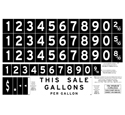 Gas Pump Decal Sheet