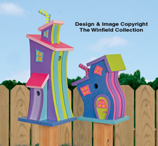 Decorative Whimsical Birdhouses Pattern