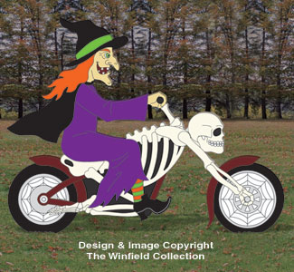 Motorcyclin' Witch Pattern