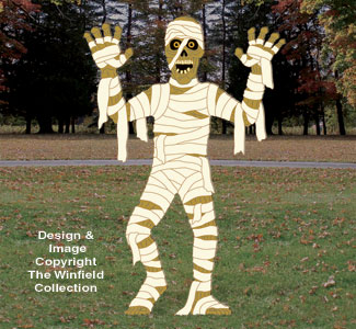Scary Mummy Woodcraft Pattern