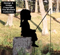 Fishin' Girl Shadow Woodcraft Pattern