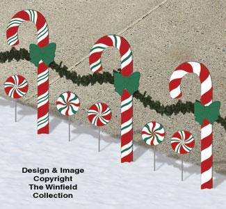 Holiday Greeting Candies Pattern Set