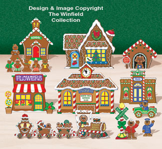 Tabletop Gingerbread Village #1 Pattern