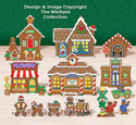 Tabletop Gingerbread Village #1 Pattern