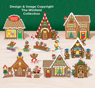 Tabletop Gingerbread Village #2 Pattern