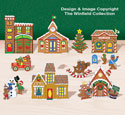 Tabletop Gingerbread Village #3 Pattern