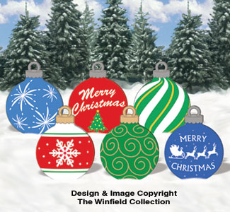 large ornaments 1 woodcraft pattern - Christmas Outdoor Decoration Patterns