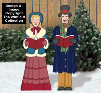 Victorian Caroling Couple Pattern