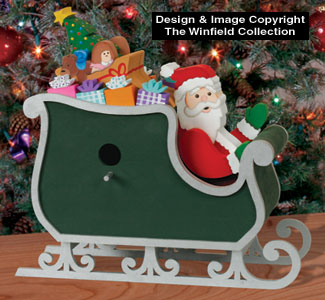 Santa Sleigh Birdhouse Decor Pattern