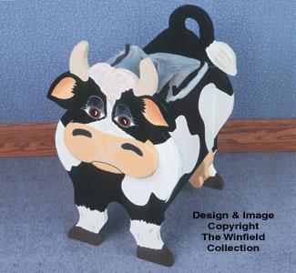 Cow Wastebasket Wood Plan