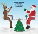 Teetering Santa, Reindeer and Teeter Totter Pattern Set