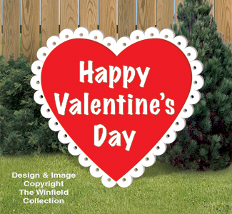 Large Valentine Heart Woodcraft Pattern