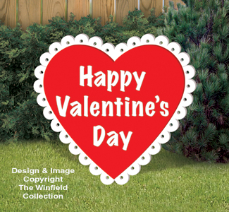 Medium Valentine Heart Wood Pattern