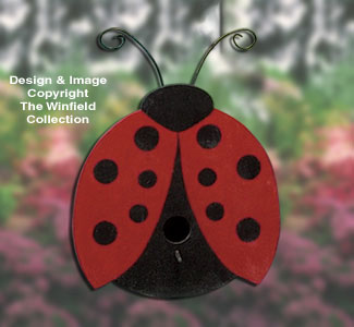 Birdhouse Wood Patterns Ladybug Birdhouse Project Plan