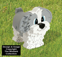 Layered Shih Tzu Woodcraft Pattern