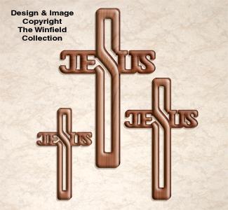 Jesus Cross Trio Pattern