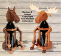 Moose and Horse Wine Bottle Holder Pattern Set