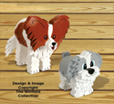 Layered Papillon and Shih Tzu Pattern Set
