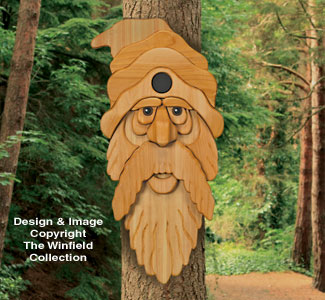 Cedar Bearded Man Birdhouse Plan