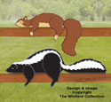 Skunk & Squirrel Rail Pets Pattern