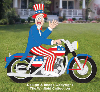 Uncle Sam & Cycle Woodcraft Pattern