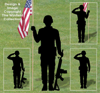 All yard garden projects military men shadow patterns for Yard shadow patterns
