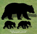 Bear Family Shadow Wood Pattern
