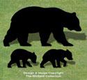 Bear Family Shadow Wood Pattern
