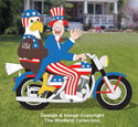 Uncle Sam, Eagle and Cycle Pattern Set