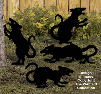 Large Evil Rats Woodcraft Pattern