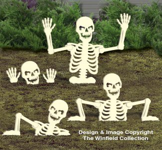Large Rising Skeletons #2 Woodcraft Pattern