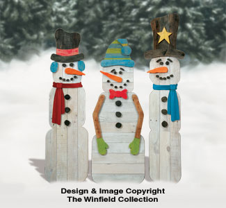 Pallet Wood Snowmen Pattern