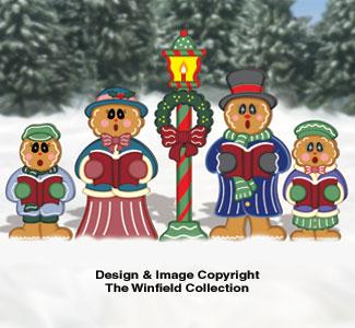 Gingerbread Victorian Carolers Pattern
