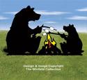 Campfire Bears Shadow Pattern