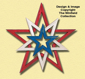 Layered Stars Woodcraft Pattern