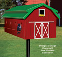 Eight Room Red Barn Birdhouse Plans